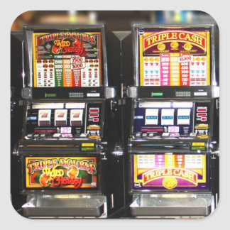 Dream Machines - Lucky Slot Machines Square Sticker