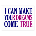 Dream Maker postcard, customizable