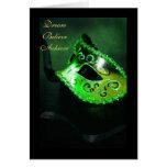 Dream Masquerade Green Graduation Card