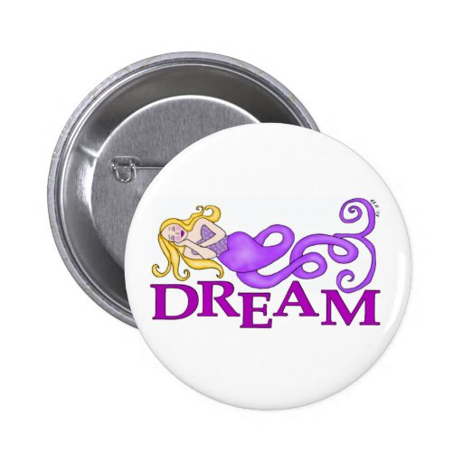 Dream Mermaid Muse Round Buttons