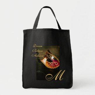 Dream Monogram Masqurade Mask Graduation Tote Bag bag