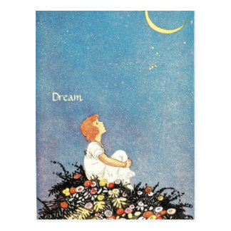 Dream Moon Wishes Postcard