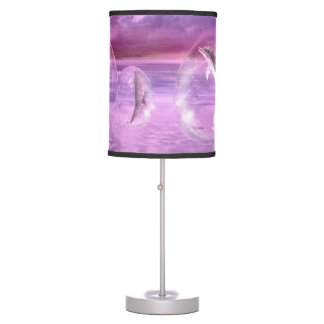 Dream Of Dolphins Table Lamp
