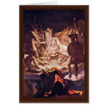 Dream Of Ossian By Ingres Jean Auguste Dominique ( Greeting Card