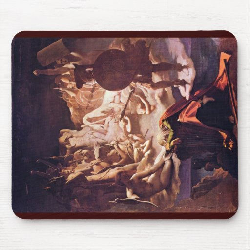 Dream Of Ossian By Ingres Jean Auguste Dominique ( Mouse Pad