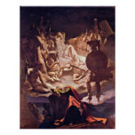 Dream of Ossian by Jean Auguste Dominique Ingres Poster