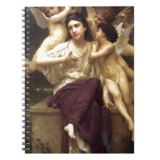Dream of Spring by William-Adolphe Bouguereau Spiral Notebook