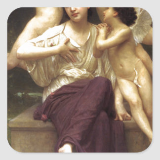 Dream of Spring by William-Adolphe Bouguereau Square Sticker