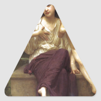 Dream of Spring by William-Adolphe Bouguereau Triangle Sticker