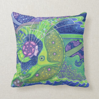 Dream of the full moon surreal underwater fantasy throw pillow