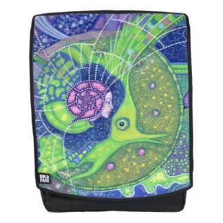 Dream of the full moon, surrealism mermaid fantasy backpack