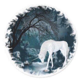 Dream of the River Unicorns sticker