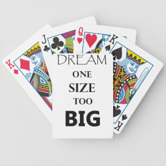 dream  one size bicycle playing cards