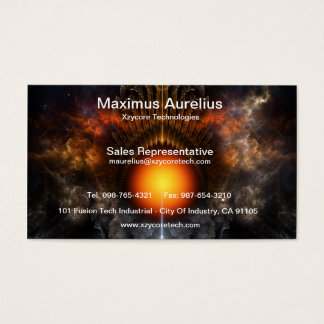 Dream Orb Fractal Art Business Card