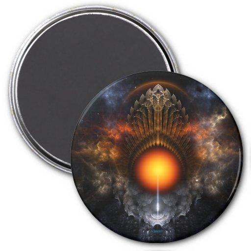 Dream Orb Fractal Art Round Magnet Refrigerator Magnets