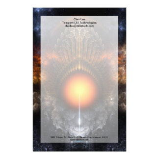 Dream Orb Fractal Art Stationery With Border