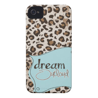 Dream Outloud Leopard iPhone 4 4s case Mally Mac