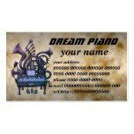dream piano Double-Sided standard business cards (Pack of 100)
