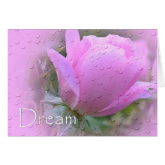 Dream-Pink Rose Card