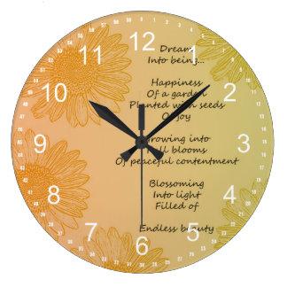 Dream Poem Round Wall Clocks