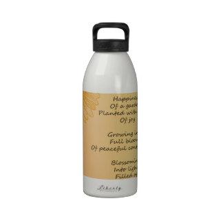 Dream Poem Reusable Water Bottles