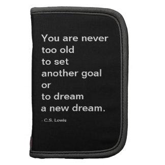 Dream - portfolio planner in black and white