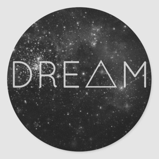 Dream products classic round sticker