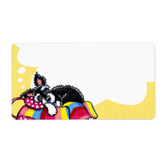 Dream Puppy Customizable Sticky Back Yellow Shipping Labels