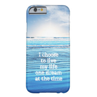 Dream quote life inspiration hope background barely there iPhone 6 case