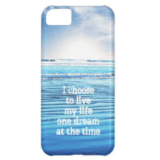 Dream quote life inspiration hope background iPhone 5C case
