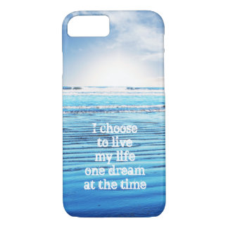 Dream quote life inspiration hope background iPhone 7 case