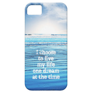 Dream quote life inspiration hope background iPhone SE/5/5s case