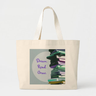 Dream. Read. Grow. Book Stack - Bag