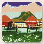 Dream Red Village Cottage Coasters