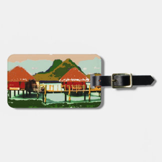 Dream Red Village Cottage Travel Bag Tags