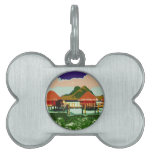Dream Red Village Cottage Pet Name Tag