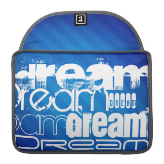 Dream; Royal Blue Stripes MacBook Pro Sleeves