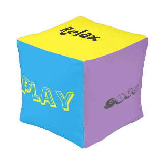 Dream,sing,laugh,dance,relax, cube pillow