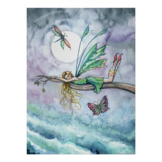 Dream Spot Fairy Poster Print print