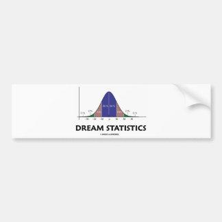 Dream Statistics (Bell Curve Attitude) Car Bumper Sticker