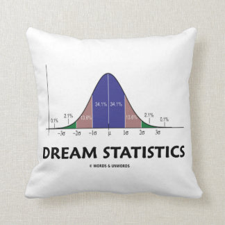 Dream Statistics (Bell Curve Attitude) Throw Pillow