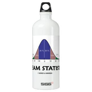 Dream Statistics (Bell Curve Humor) Aluminum Water Bottle
