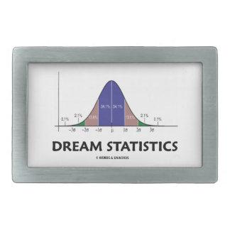 Dream Statistics (Bell Curve Humor) Rectangular Belt Buckle