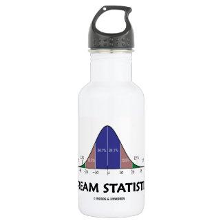 Dream Statistics (Bell Curve Humor) Stainless Steel Water Bottle