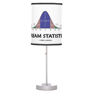 Dream Statistics Bell Curve Humor Table Lamp
