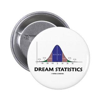 Dream Statistics (Statistical Attitude) Pinback Button