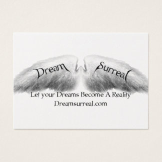 Dream Surreal - White Angel Wings Business Card