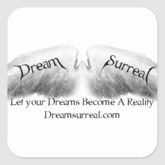 Dream Surreal - White Angel Wings Square Sticker
