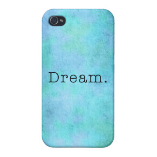 Dream. Teal Blue Aqua Green Seafoam  Purple Dream Covers For iPhone 4