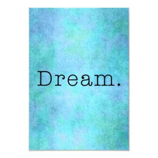 Dream. Teal Blue Aqua Green Seafoam  Purple Dream Custom Announcements